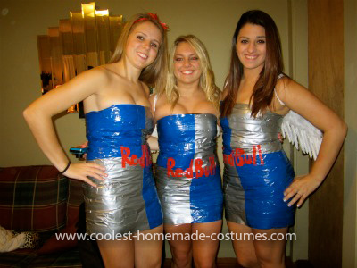 Homemade Redbull Costume Idea