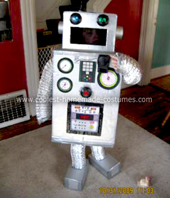 Homemade Robot Boy Costume