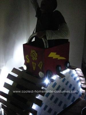 Homemade Roller Coaster Halloween Costume
