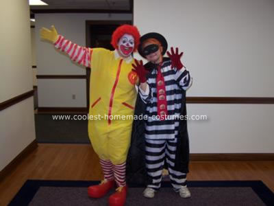 Homemade Ronald McDonald and Hamburgler Costume