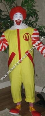 Homemade Ronald McDonald Halloween Costume Idea