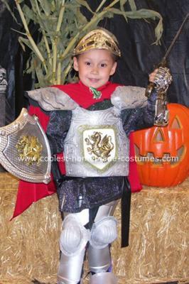 Homemade Royal Knight Halloween Costume