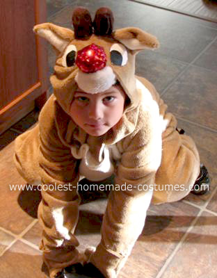 Homemade Rudolph the Red Nosed Reindeer Costume