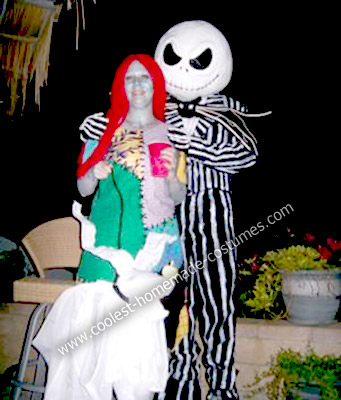 Homemade Sally and Jack Skellington Costumes