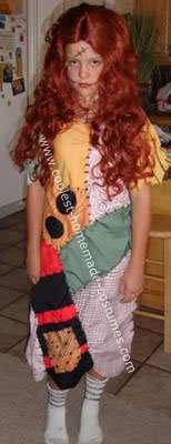 Homemade Sally from the Nightmare Before Christmas Costume