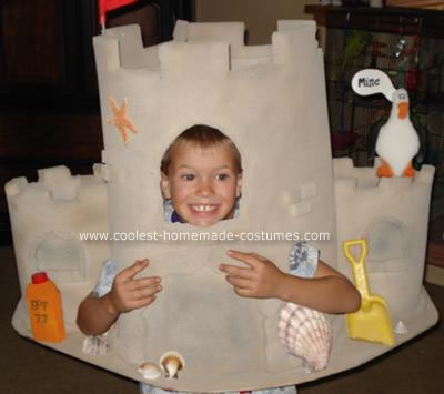 Homemade Sand Castle Costume
