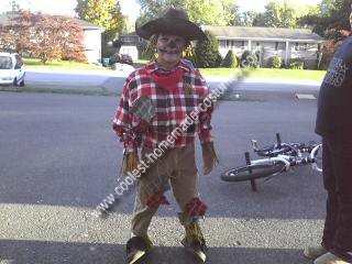 Homemade Scarecrow Boy Costume