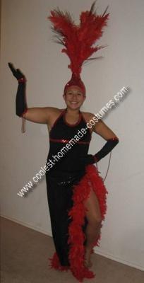 Homemade Showgirl Costume
