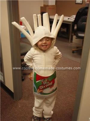 Homemade Silly String Cheese Costume