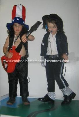 Homemade Slam and Michael Jackson Halloween Costumes