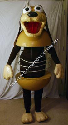 Homemade Slinky Dog Halloween Costume