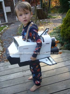 Homemade Space Shuttle Halloween Costume