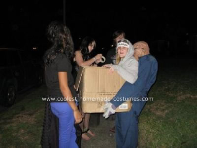 Homemade Special Delivery Optical Illusion Costume