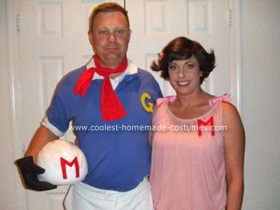 Homemade Speed Racer and Trixie Halloween Costume