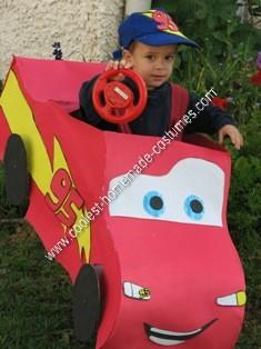 Homemade Speedy McQueen Toddler Costume Idea