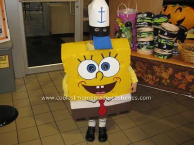 Homemade Sponge Bob Square Pants Costume
