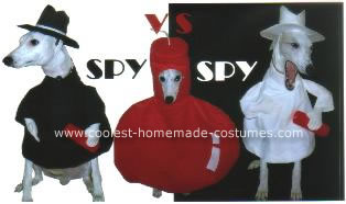 Homemade Spy vs Spy Dog Costumes