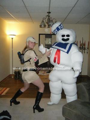 Homemade Stay Puft Marshamallow Man Costume