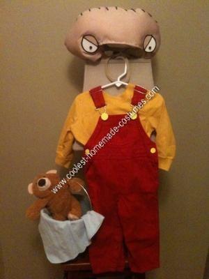 Homemade Stewie Griffin Halloween Costume Idea