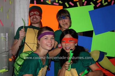 Homemade Teenage Mutant NEON Ninja Turtles Costume