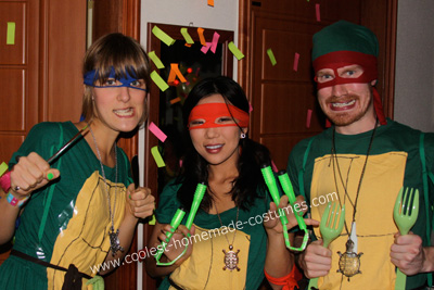 Homemade Teenage Mutant NEON Ninja Turtles Costume