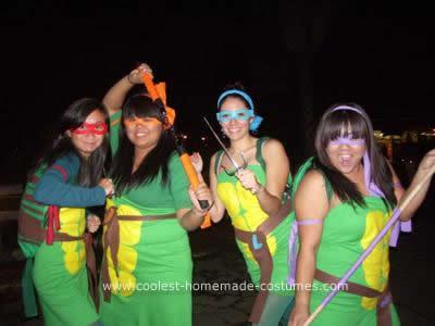 Homemade Teenage Mutant Ninja Turtles Group Costume