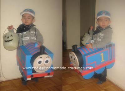 Homemade Thomas The Tank Engine Costume