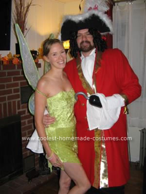 Homemade Tinkerbell and Captain Hook Couple Costumes