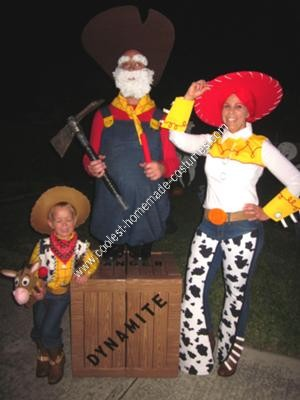Homemade Toy Story 2 Woody's Round Up Gang Costumes