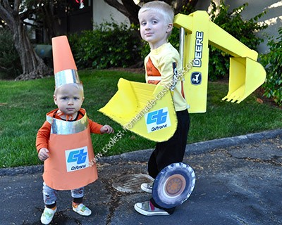 traffic cone costume instructions