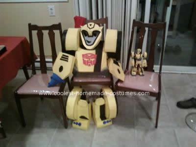 Homemade Transformer Bumble Bee Animated Costume