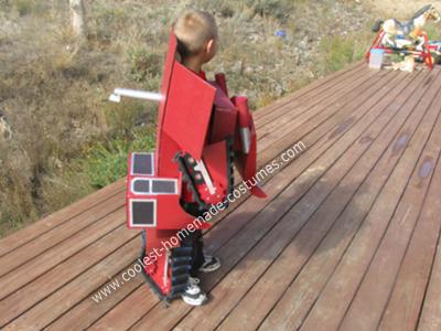 Homemade Transforming Bulldozer Kids Costume