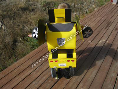 Homemade Transforming Bumblebee Kids Costume