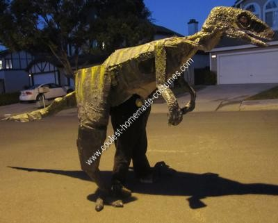 Homemade Velociraptor Halloween Costume Idea