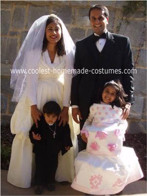 Homemade Wedding Family Costume