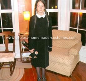 Homemade Wednesday Addams Costume