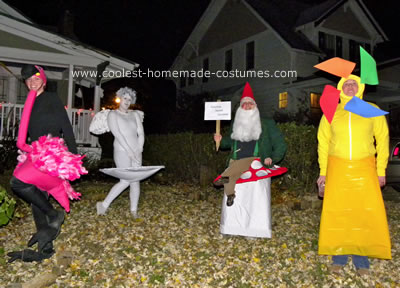 Homemade Yard Art Group Costume