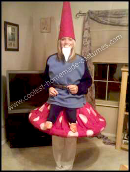 Gnome Sitting on a Toadstool Costume