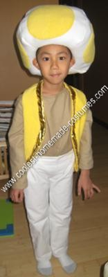 Picture1: Homemade Yellow Toad Child Costume Idea