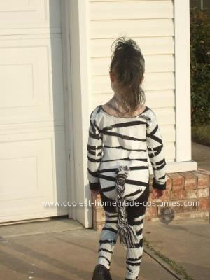 Coolest Homemade Zebra Costume 5