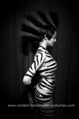 Homemade Zebra Halloween Costume Idea