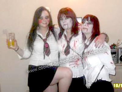 Coolest Homemade Zombie School Girls Costumes 26