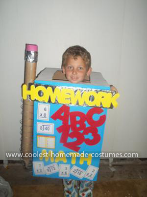 Homemade Homework Costume