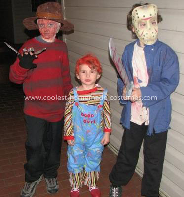 Homemade Horror Movie Trio Children's Costumes