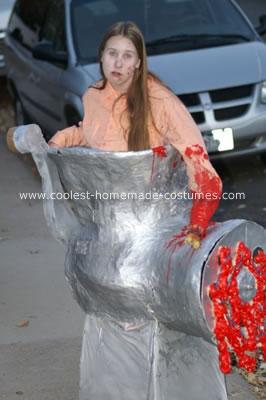 Homemade Human Grinder Costume