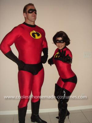 Homemade Incredibles Couple Costume