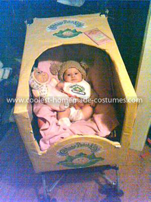 Coolest Infant Cabbage Patch Kid Costume - Box covering her Carseat/Stroller