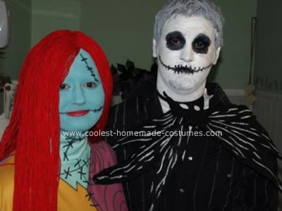 Jack Skellington and Sally Ragdoll Homemade Costumes
