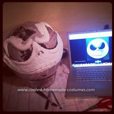 Homemade Jack Skellington Costume