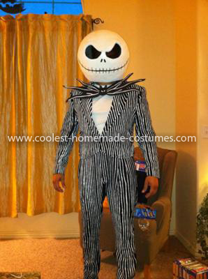 Homemade Jack Skellington Nightmare Before Christmas Costume